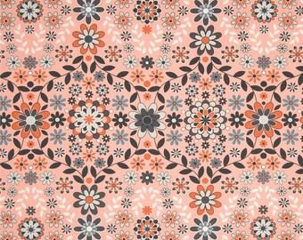 90452 Jenean Morrison Sunrise in Orange  color Home Dec fabric  - 1/2 yard