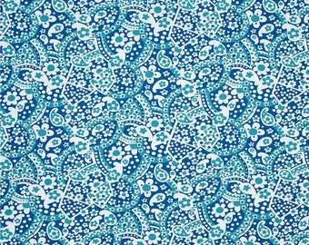 50092-  1/2 yard of  Jennifer Paganelli -Hotel Fredriksted Patrice in Aqua