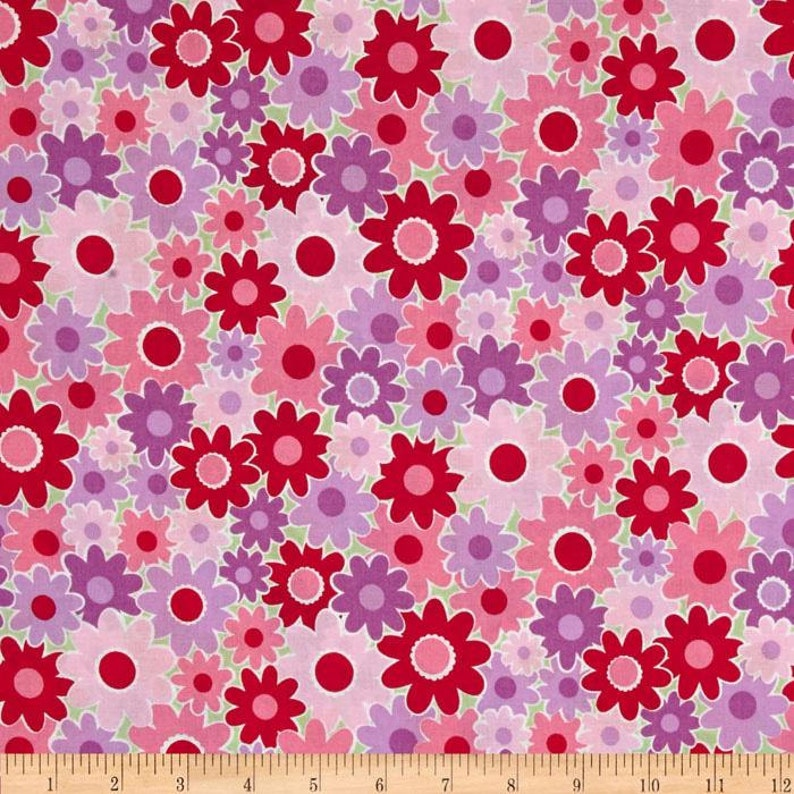 ac3558397dc17 06461 - Springs Creative Products Dilly Dally Floral Jamboree in pink- 1/2  yard