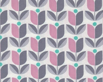 54072 - Joel Dewberry True Colors Tulip in Gray color - 1/2 yard