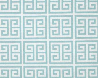 25193 - 1/2 yard of Dena Designs Chinoiserie Chic Greek key in aqua