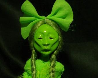 art doll, green