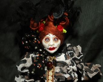 ooak art doll, red hair