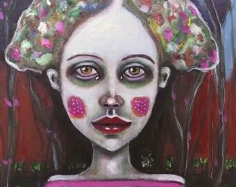 Original, art, figurative, oil on canvas, Portrait, naive, outlaw