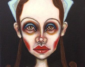 Original,  portrait, painting, art, girl