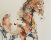 Horse Painting, Original ...