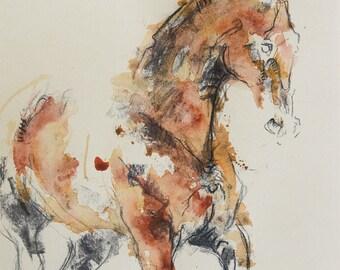 Horse Painting, Original Fine Art, Equine Art, Contemporary Art, Modern Art, Animal Art