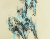 Galloping Horse Drawing, ...
