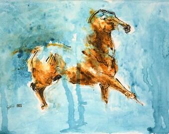 Original Acrylic Horse Painting, Contemporary Art, Equine Art, Animal Portrait