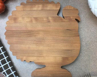Thanksgiving Cherry Cutting Board Turkey   Gift Box Available and ready to ship