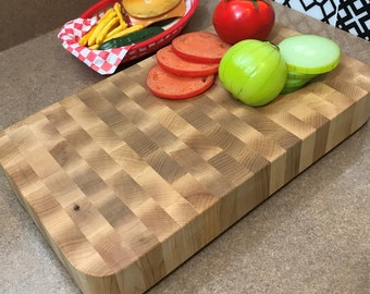 "Maple True Butcher Block Cutting Board, large,  long lasting 2"" thick"