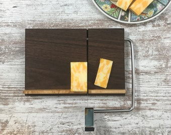 Unique Walnut and tiger maple Wire cheese cutters, Great gift
