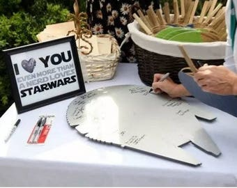 Millennium falcon Wedding guestbook