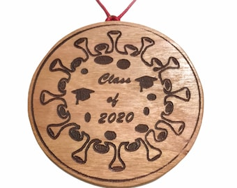 Class of 2020 Cherry hand made wooden ornament