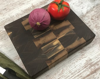Eye catching thick and heavy Walnut  Butcher Block  true butcher block