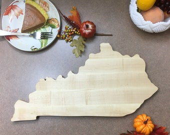 Kentucky Large Maple Cutting Board great gift for weddings, holidays, birthdays