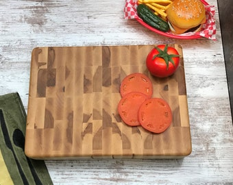 Solid work area Double sided Maple end grain Butcher Block cutting board