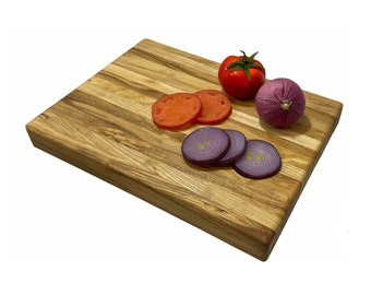 "Ash butcher block 16"" Side grain board with feet"