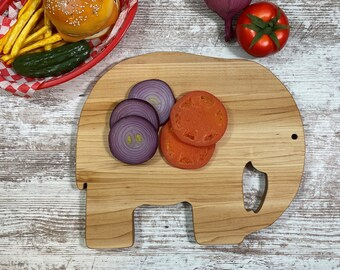 large cutting surface Jumbo Elephant Cutting Board  Solid Maple construction