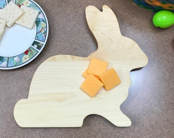 Cutting Board Big Bunny Rabbit  Wood,  Gift boxing available, perfect for Easter or any occasion, hand made and made to be used