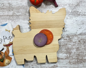 Yorkie Cheese Board, Gift Box available, great gift for any Yorkie dog owner