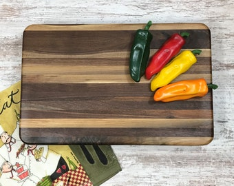 """Walnut butcher block 18"""" Side grain board"""