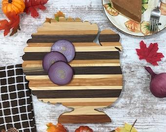 Thanksgiving Cutting Board Turkey Multi hardwood