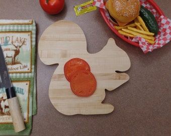 Cutting Board  Great present ! Squirrel Gift Wrap/Box available