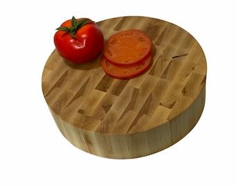 Round Cutting Board, Maple True Butcher Block Cutting Board,  long lasting
