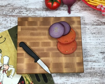 Knife edge saver with this 2 inches thick heavy Maple Cutting Board,  Butcher Block, A true butcher block