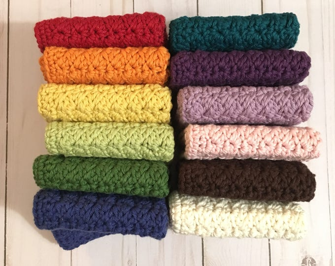Washcloth - Dishcloth - Cleaning cloth - crochet washcloth - 100% Cotton