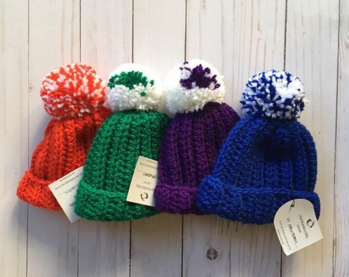 CLEARANCE -Baby Beanie - Newborn - baby hat