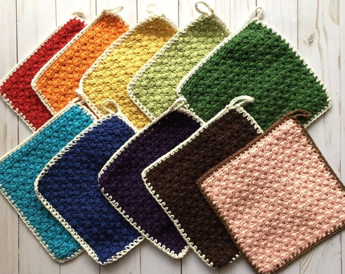 Potholder Set -Hot pads - 100% Cotton