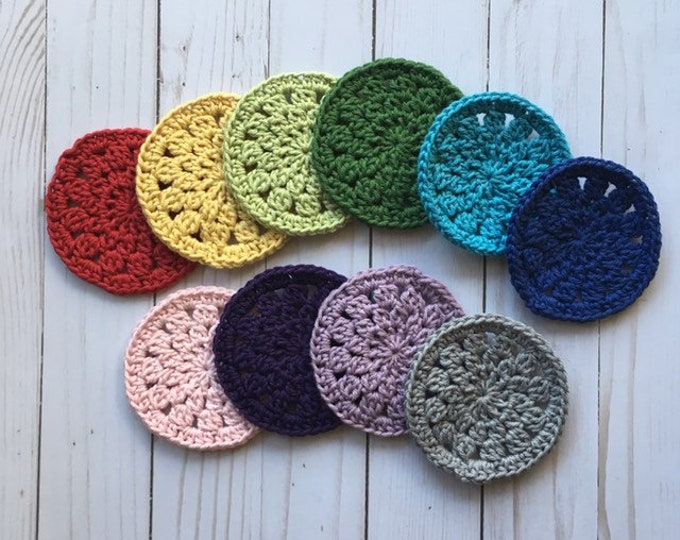 Coaster Set - 100% Cotton - Crochet - Coasters