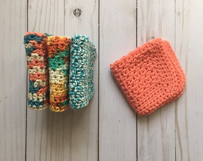Daily Washcloth - Dishcloth - Cleaning cloth - crochet washcloth - 100% Cotton
