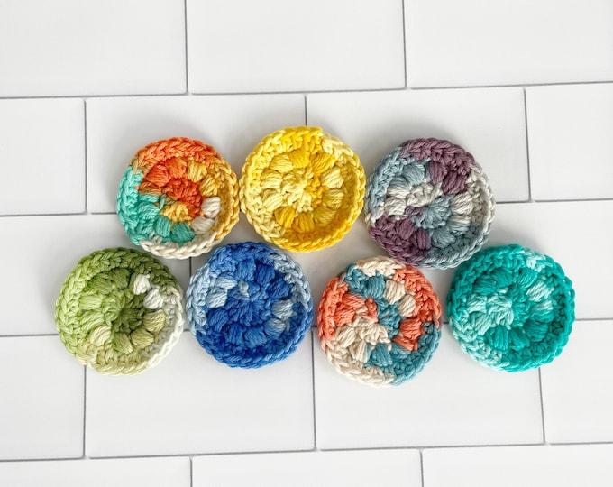 Face Scrubber Sets - 100 % cotton, Crochet, Multi-colored