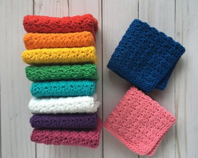CLEARANCE - Baby Washcloth - 100% Cotton - baby shower gift
