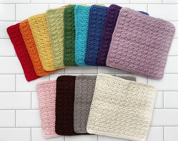 Washcloth - Dishcloth - Cleaning cloth - crochet washcloth - 100% Cotton