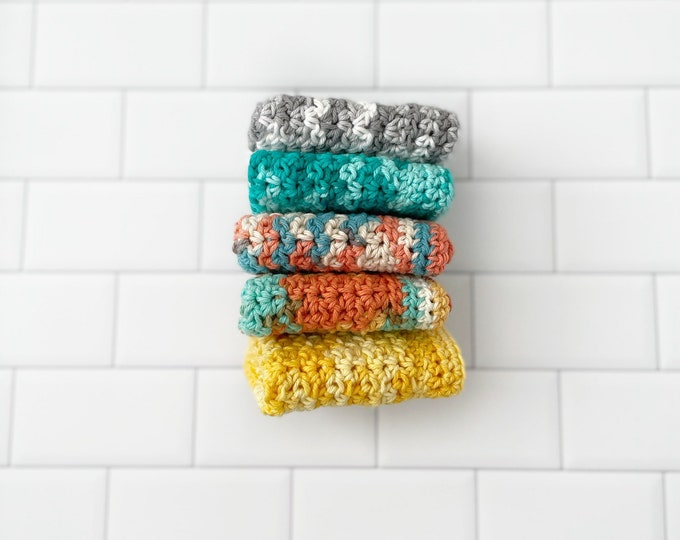 Daily Washcloth - Dishcloth - Cleaning cloth - crochet washcloth - 100% Cotton