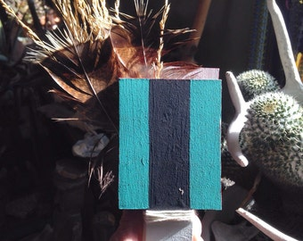 Hopi Kachina dance wandwood paint feathers & plant material