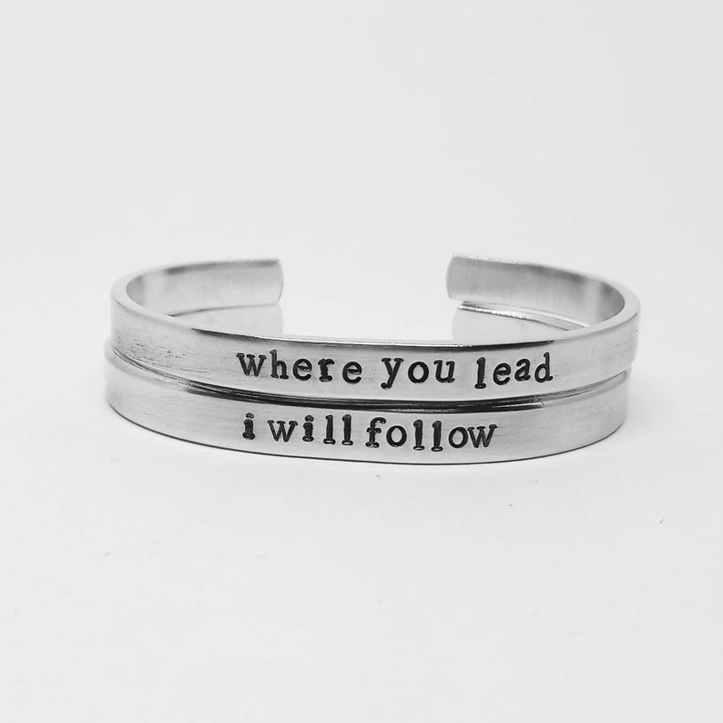 Where you lead/I will follow: hand stamped Gilmore Girls image 0