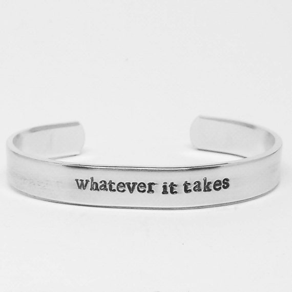 this is the fight of our lives hand stamped fangirl bracelet Avengers Endgame quote aluminum cuff