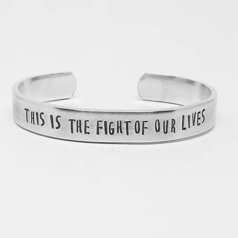 Avengers Endgame quote aluminum cuff: this is the fight image 0