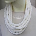 Crochet Scarf Pattern, Rope Scarf Crochet Pattern, Rope Cowl Crochet Pattern, Rope Crochet Pattern, PDF211