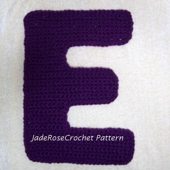 Crochet Letters Patterns E Appliques And 40D Decorative Accent Etsy Magnificent Crochet Letters Patterns