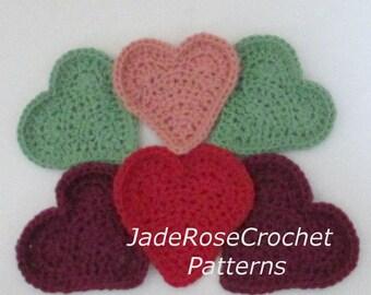 Crochet Heart Exfoliating Cloth Pattern, Heart Cloths, Heart Baby Washcloths, Heart Scrubby Pattern, Crochet Heart Pattern, PDF502