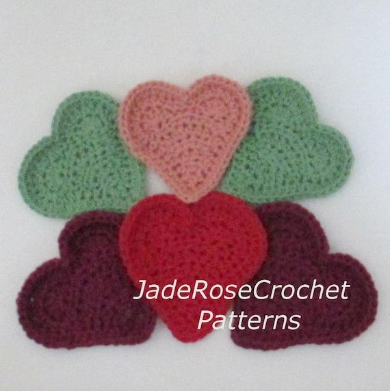 Crochet Heart Pattern Heart Cloths Heart Baby Washcloths Etsy