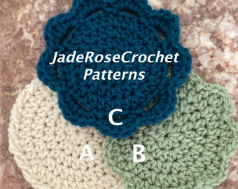 Crochet Coaster Pattern, Mandala Coaster Crochet Pattern, Flowers Coaster Crochet Pattern, Easy Coasters, Thick Coaster Pattern PDF525