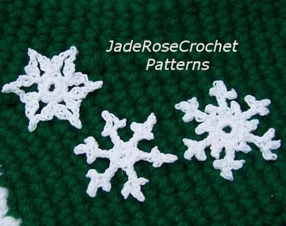Crochet Snowflakes Patterns Six Crochet Ornaments Pattern Etsy