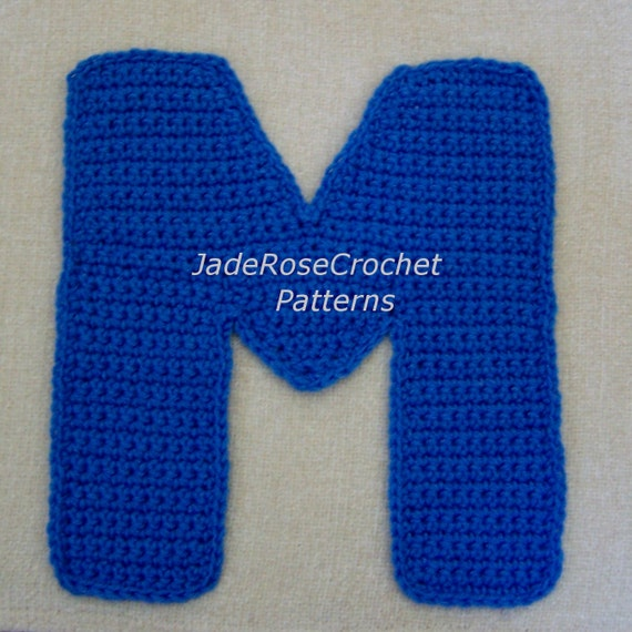 Crochet Letter Patterns M Appliques And 40D Accent Pillows In 40 Etsy Extraordinary Crochet Letters Patterns